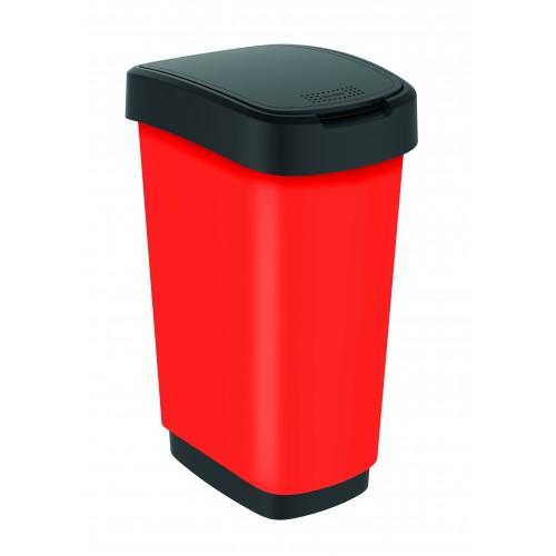 Rotho контейнер для раздельного сбора мусора Rotho Swing TWIST PREMIUM 25 л 50 л с откидной плавающей крышкой цвет красный