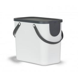 Контейнер для сортировки мусора Rotho Albula 25 л белый