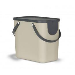 Контейнер для раздельного сбора мусора Rotho Albula 25 л цвет капучино
