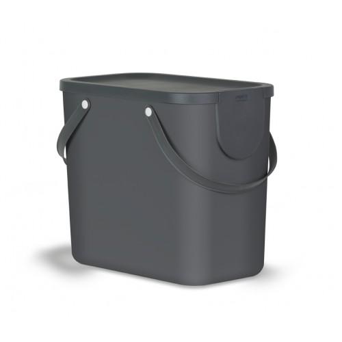 Контейнер для раздельного сбора мусора Rotho Albula 25 л цвет черный