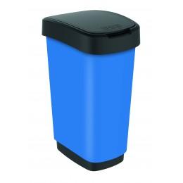 Rotho контейнер для раздельного сбора мусора Swing TWIST PREMIUM 25 л 50 л  с откидной плавающей крышкой цвет синий