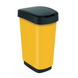Rotho контейнер для раздельного сбора мусора Swing TWIST PREMIUM 25 л 50 л  с откидной плавающей крышкой цвет желтый
