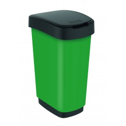 Rotho контейнер для раздельного сбора мусора Swing TWIST PREMIUM 25 л 50 л  с откидной плавающей крышкой цвет зеленый