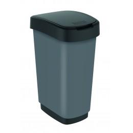 Rotho контейнер для раздельного сбора мусора Swing TWIST PREMIUM 25 л 50 л с откидной плавающей крышкой цвет темно серый