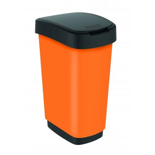 Rotho контейнер для раздельного сбора мусора Swing TWIST PREMIUM 25 л 50 л с откидной плавающей крышкой цвет оранжевый