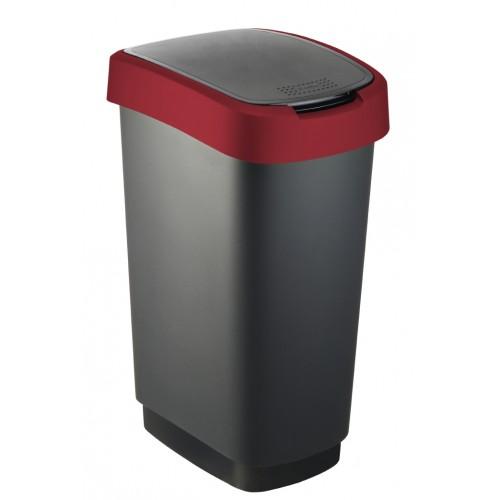 Rotho контейнер для раздельного сбора мусора Rotho Swing TWIST 10 л 25 л 50 л с откидной плавающей крышкой цвет красный