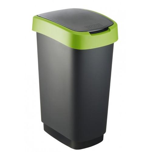 Rotho контейнер для раздельного сбора мусора Swing TWIST 10 л 25 л 50 л  с откидной плавающей крышкой цвет зеленый