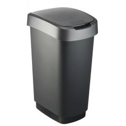 Rotho контейнер для раздельного сбора мусора Swing TWIST 10 л 25 л 50 л  с откидной плавающей крышкой цвет темно серый