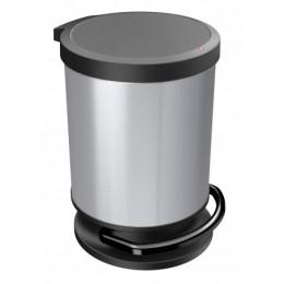 Контейнер для мусора Rotho PASO 20 л. круглый с педалью плавное и бесшумное опускание крышки