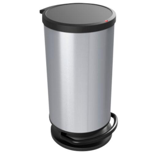 Контейнер для мусора Rotho PASO 30 л. круглый с педалью плавное и бесшумное опускание крышки