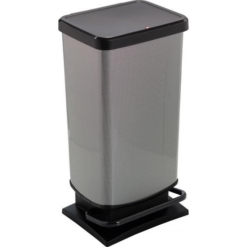 Контейнер Rotho для мусора PASO 40 л. с педалью плавное и бесшумное опускание крышки