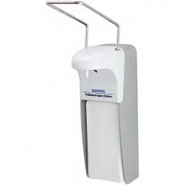 SARAYA MDS-1000A МЕДИЦИНСКИЙ локтевой дозатор для жидкого мыла и антисептика металлический 1000 мл сертификат РУ