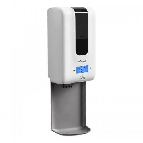 Сенсорный дозатор спрей для антисептика с бесконтактным термометром MIRTOO 2252NT емкость 1200 мл.