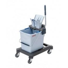 Тележка уборочная одноведерная Vileda professional система 25 л с вертикальным отжимом на платформе 149098