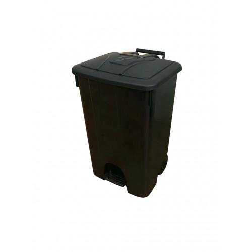 Контейнер мусорный на колесах с педалью и крышкой для раздельного сбора, хранения и транспортировки мусора