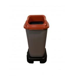Мусорный бак для раздельного сбора мусора с крышкой и подставкой на колесах