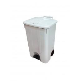 Контейнер мусорный на колесах с педалью и крышкой для сбора, хранения и транспортировки отходов