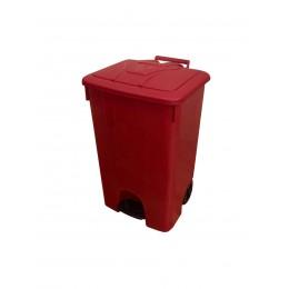 Мусорный бак с педалью и крышкой на колесах для сбора, хранения и транспортировки отходов