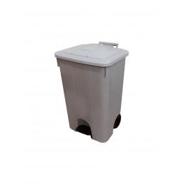 Контейнер мусорный на колесах с педалью и крышкой для раздельного сбора, хранения и транспортировки отходов