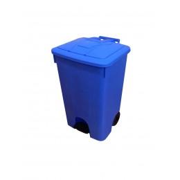 Мусорный бак пластиковый с крышкой  с педалью с колесами