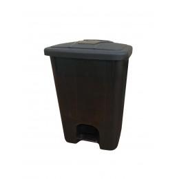 Контейнер для мусора с крышкой и педалью для раздельного сбора мусора