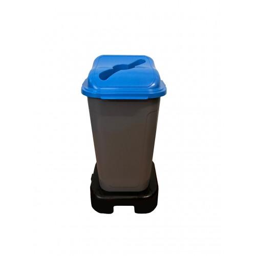 Контейнер для раздельного сбора мусора с крышкой и подставкой на колесах