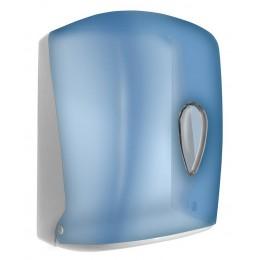 Диспенсер для бумажных полотенец в рулонах с центральной вытяжкой Wick синий NOFER 04108.T