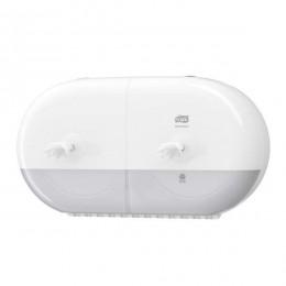Tork SmartOne Двойной диспенсер для туалетной бумаги в мини-рулонах с центральной вытяжкой Система T9 белый 682000