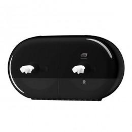 Tork SmartOne Двойной диспенсер для туалетной бумаги в мини-рулонах с центральной вытяжкой Система T9 черный 682008