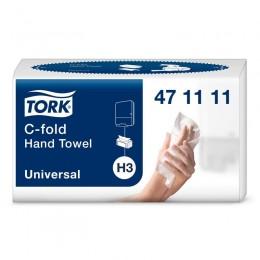 Полотенца бумажные листовые Tork Universal 471111 Н3 С-сложения 2-слойные 20 пачек по 120 листов