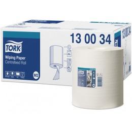 Протирочная бумага рулонная Tork 130034 1-слойная 6 рулонов по 165 м