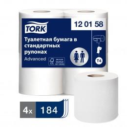 Туалетная бумага рулонная Tork 120158 2-слойная 4 рулона по 23 м
