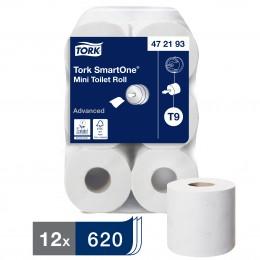 Туалетная бумага рулонная Tork SmartOne 472193 2-слойная 12 рулонов по 112 м