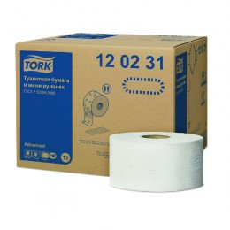 Туалетная бумага рулонная Tork 120231 2-слойная 12 рулонов по 170 м