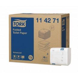 Туалетная бумага листовая Tork 114271 2-слойная 36 пачек по 242 листа