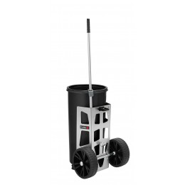 Мусорная тележка для дворника FLORA Easy Uno для улиц, городских парков, придомовых территориях и загородных участков вместимость 60 л.