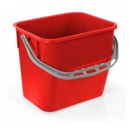 Ведро для уборки TTS Moplen, красное, 12 л. 000R3502