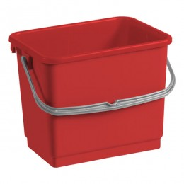 Ведро для уборки TTS красное, 4 л. 00003361
