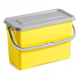 Ведро для уборки TTS Hermetic с крышкой, желтое, 8 л. 0G003255
