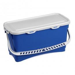 Ведро для уборки TTS Hermetic с крышкой, синее, 20 л. 0B003215