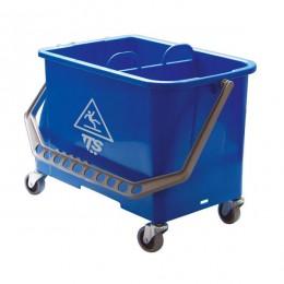 Ведро для уборки TTS пластиковое на колесах, синее, 20 л. 00006594