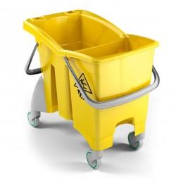 Ведро для уборки TTS Action BASIC двойное без слива, желтое, 4 шт в оптовой упаковке, 30 л. 0G016494