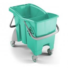Ведро для уборки TTS Action PRO со сливом, 4 шт в оптовой упаковке, зеленое, 30 л. 0V016484