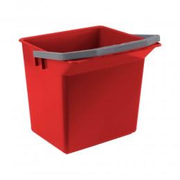 Ведро для уборки TTS красное, 6 л. 00003505