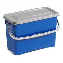 Ведро для уборки TTS Hermetic с крышкой, синее, 8 л. 0B003255