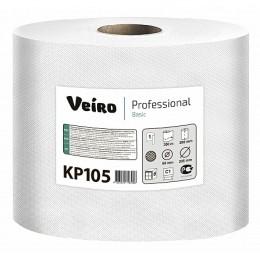 Бумажные полотенца в рулонах с центральной вытяжкой Veiro Professional Basic КР105 T8 6 рулонов по 300 м