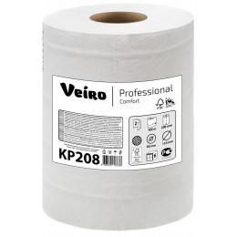 Бумажные полотенца в рулонах с центральной вытяжкой Veiro Professional Comfort KP208 C1/С2-M2 6 рулонов по 100 м