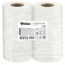 Бумажные полотенца в рулонах Veiro Professional Premium К313 20 рулонов по 18 м