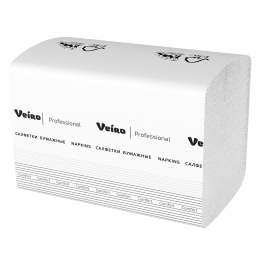 Салфетки бумажные столовые и сервировочные Veiro Comfort NV211 21x16 2-слойные 15 пачек по 220 листов