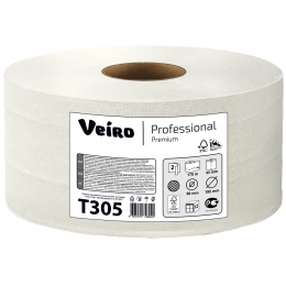 Туалетная бумага в рулонах Veiro Professional Comfort Т305 Q2 12 рулонов по 170 м